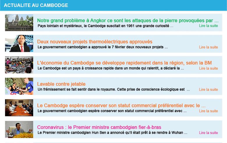 Actualite cambodge semaine 06 2020