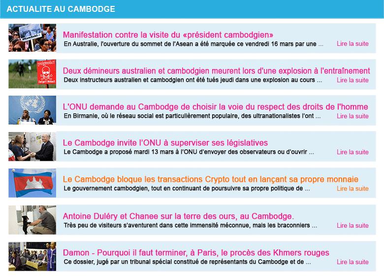 Actualite cambodge semaine 12 2018