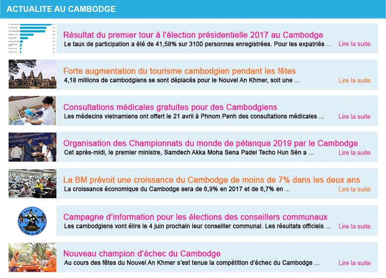 Actualite cambodge semaine 17 2017