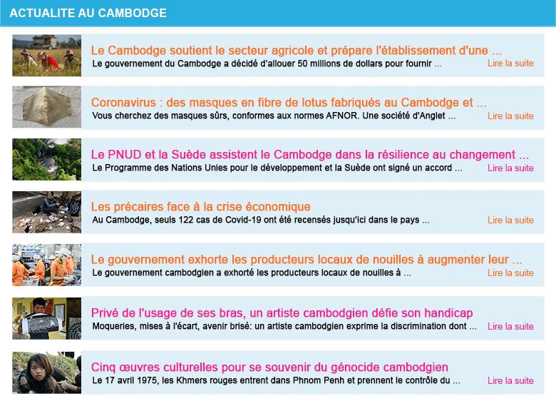 Actualite cambodge semaine 17 2020