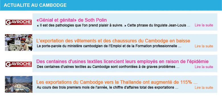 Actualite cambodge semaine 18 2020
