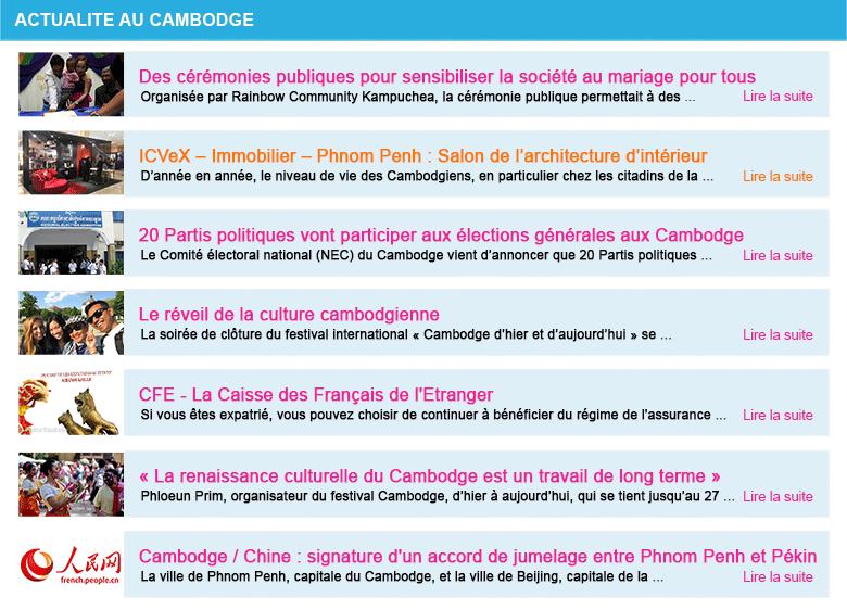 Actualite cambodge semaine 21 2018