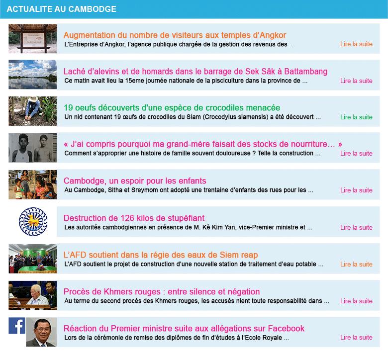 Actualite cambodge semaine 27 2017