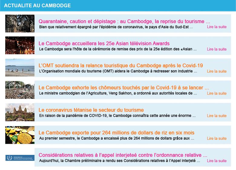 Actualite cambodge semaine 27 2020