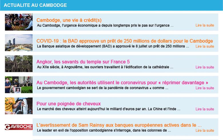 Actualite cambodge semaine 28 2020