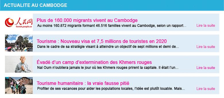 Actualite cambodge semaine 34