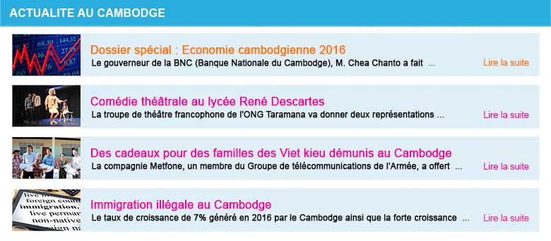 Actualite cambodge semaine 5 2017
