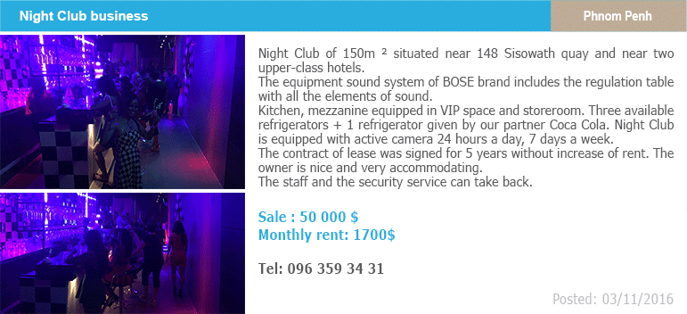 Business classified ads 4 night club phnom penh 1