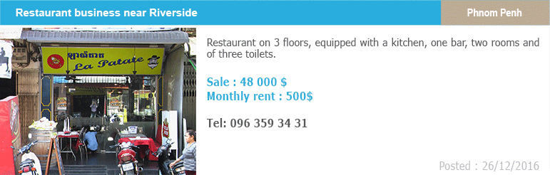 Business classified ads 5 restaurant riverside phnom penh
