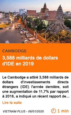 Economie 3 2c588 milliards de dollars d ide en 2019