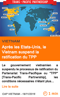Economie apres les etats unis le vietnam suspend la ratification du tpp