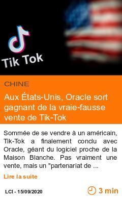 Economie aux etats unis oracle sort gagnant de la vraie fausse vente de tik tok page001