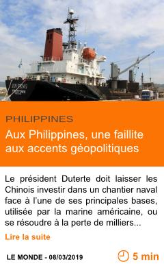 Economie aux philippines une faillite aux accents geopolitiques page001