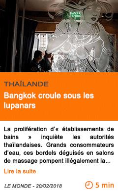Economie bangkok croule sous les lupanars