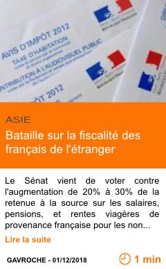 Economie bataille sur la fiscalite des francais de l etranger page001