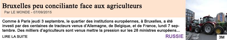 Economie bruxelles peu conciliante face aux agriculteurs