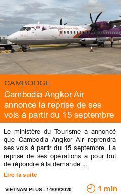 Economie cambodia angkor air annonce la reprise de ses vols a partir du 15 septembre page001