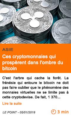 Economie ces cryptomonnaies qui prosperent dans l ombre du bitcoin