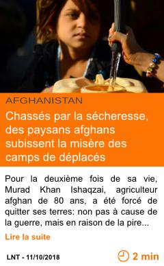 Economie chasses par la secheresse des paysans afghans subissent la misere des camps de deplaces page001