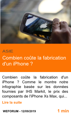 Economie combien coute la fabrication d un iphone page001