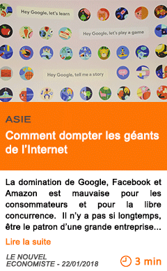 Economie comment dompter les geants de l internet