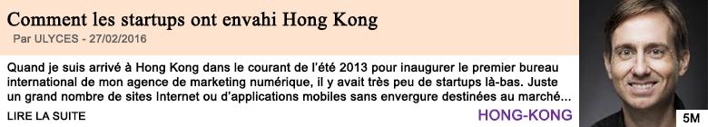 Economie comment les startups ont envahi hong kong