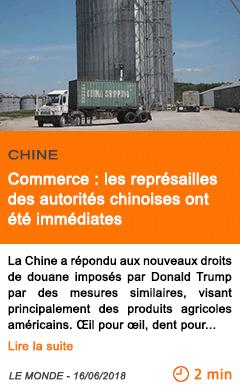 Economie commerce les represailles des autorites chinoises ont ete immediates