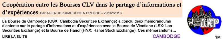 Economie cooperation entre les bourses clv dans le partage d informations et d experiences