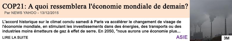 Economie cop21 a quoi ressemblera l economie mondiale de demain