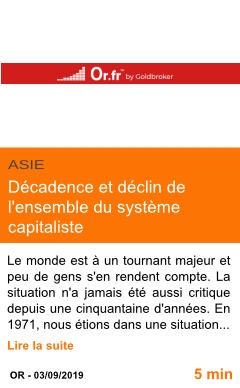 Economie decadence et declin de l ensemble du systeme capitaliste page001