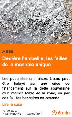 Economie derriere l embellie les failles de la monnaie unique