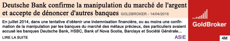 Economie deutsche bank confirme la manipulation du marche de l argent et accepte de denoncer d autres banques 1