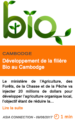 Economie developpement de la filiere bio au cambodge