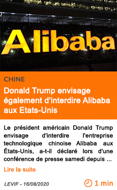 Economie donald trump envisage egalement d interdire alibaba aux etats unis