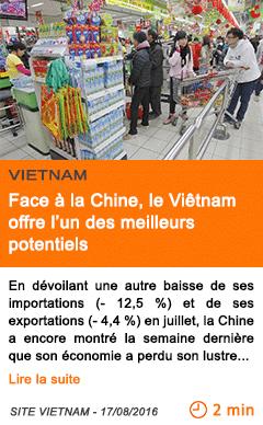 Economie economie face a la chine le vietnam offre l un des meilleurs potentiels