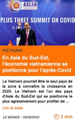 Economie en asie du sud est l economie vietnamienne se positionne pour l apres covid