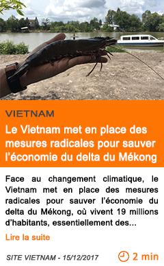 Economie face a la montee des eaux le vietnam met en place des mesures radicales pour sauver l economie du delta du mekong