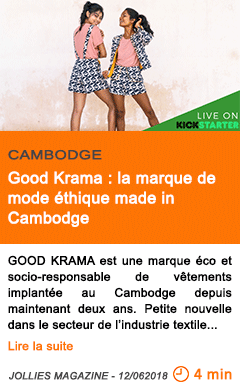 Economie good krama la marque de mode ethique made in cambodge