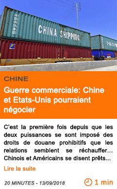 Economie guerre commerciale chine et etats unis pourraient negocier