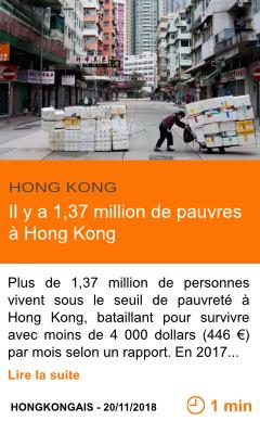 Economie il y a 1 37 million de pauvres a hong kong page001