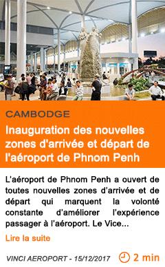 Economie inauguration des nouvelles zones d arrivee et depart de l aeroport de phnom penh