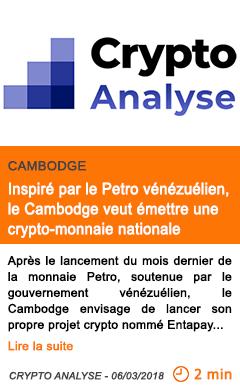 Economie inspire par le petro venezuelien le cambodge veut emettre une crypto monnaie nationale
