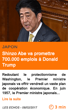 Economie japon shinzo abe va promettre 700