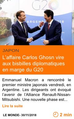Economie l affaire carlos ghosn vire aux bisbilles diplomatiques en marge du g20 page001