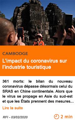 Economie l impact du coronavirus sur l industrie touristique