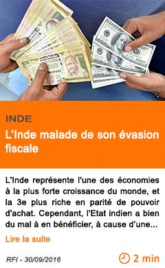 Economie l inde malade de son evasion fiscale