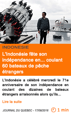 Economie l indonesie fete son independance en 1