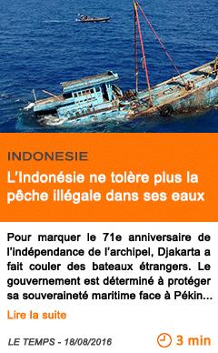 Economie l indonesie ne tolere plus la peche illegale dans ses eaux 1