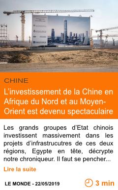Economie l investissement de la chine en afrique du nord et au moyen orient est devenu spectaculaire page001