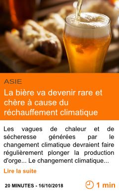 Economie la biere va devenir rare et chere a cause du rechauffement climatique page001